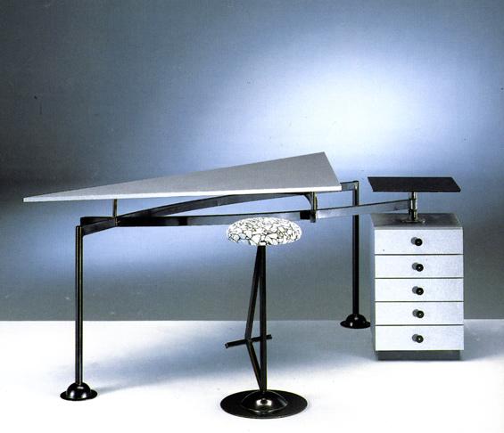 Trilatero ellittica design for Arredamento postmoderno
